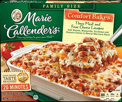 Marie Callender's Comfort Bakes Multi-Serve Frozen Dinner, Three Meat & Four Cheese Lasagna, 31 Ounce
