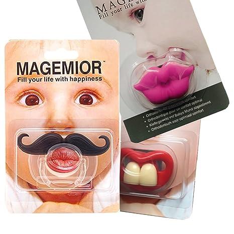 Amazon.com: Bebé Chupete, chupete, diseño de bigote ...