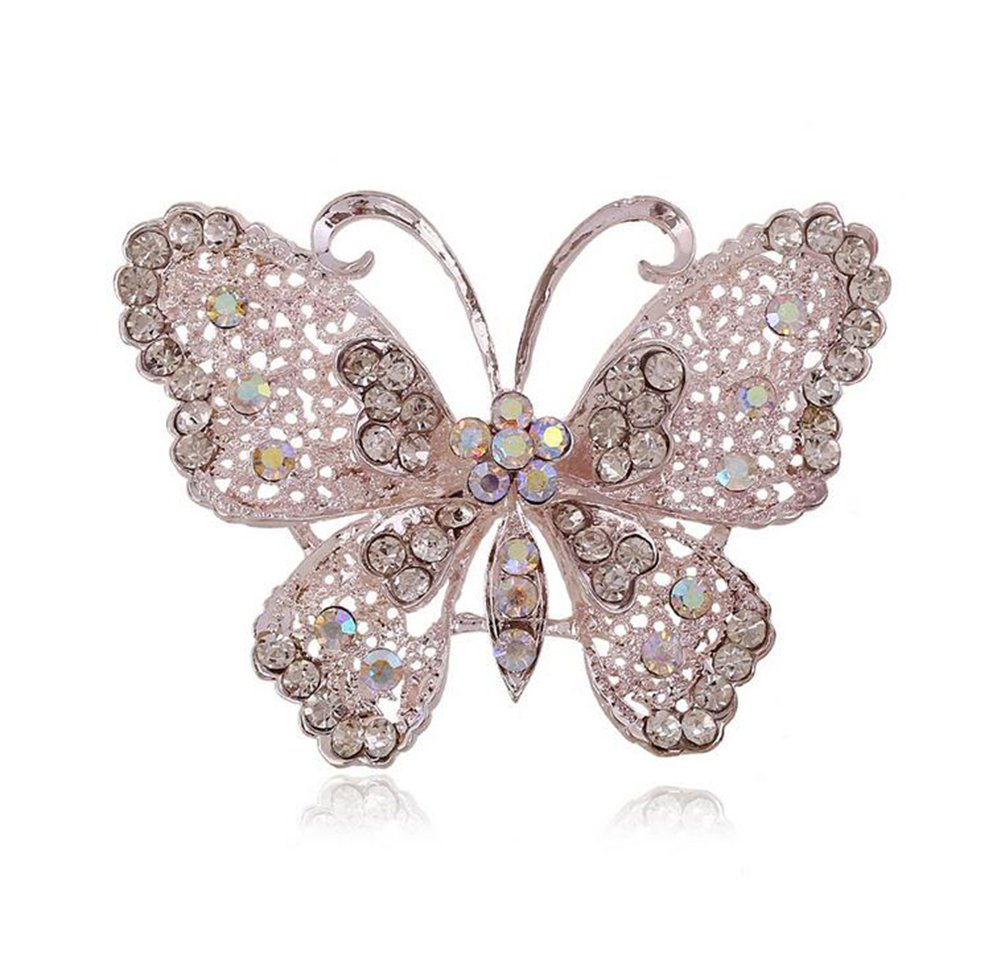Superior Hosaire 1X Fashion Elegant Diamond Butterfly Wedding Bridal Brooch Pin  Rhinestone Covered Scarves Shawl Clip For