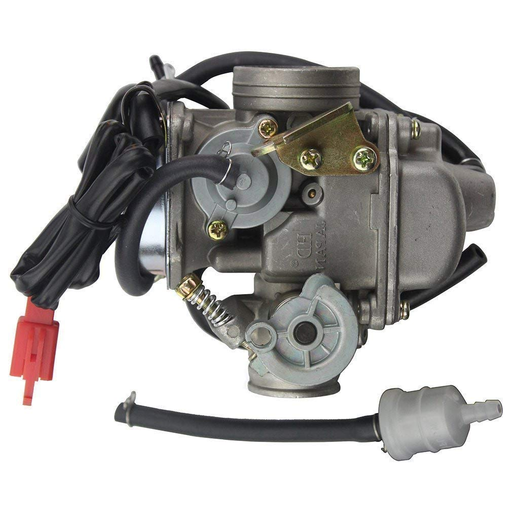 Goofit Pd24j Carburetor For Gy6 150cc Atv Scooter 157qmj Engine Wiring Diagram In Addition Roketa 250cc Go Kart Automotive