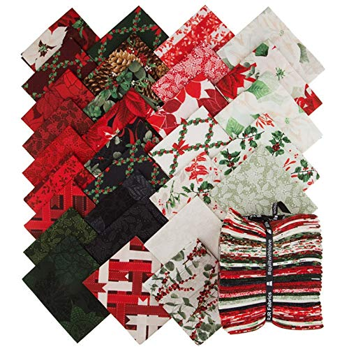 Christmas Fat Quarter Bundle - Let it Sparkle Christmas Fat Quarter Bundle of 31 by RJR Fabrics