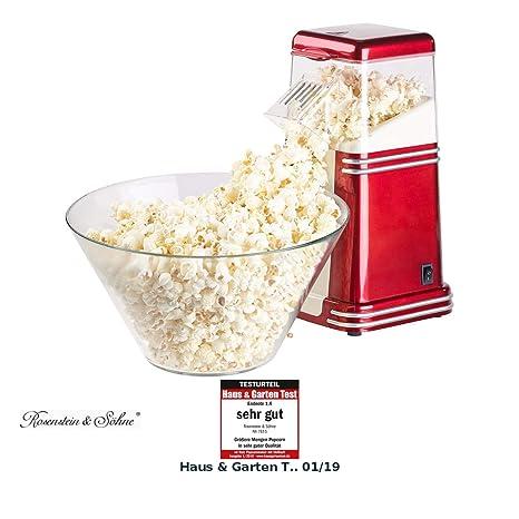 Rosenstein & Söhne Popcorn Maker: máquina de palomitas de aire caliente XL, para