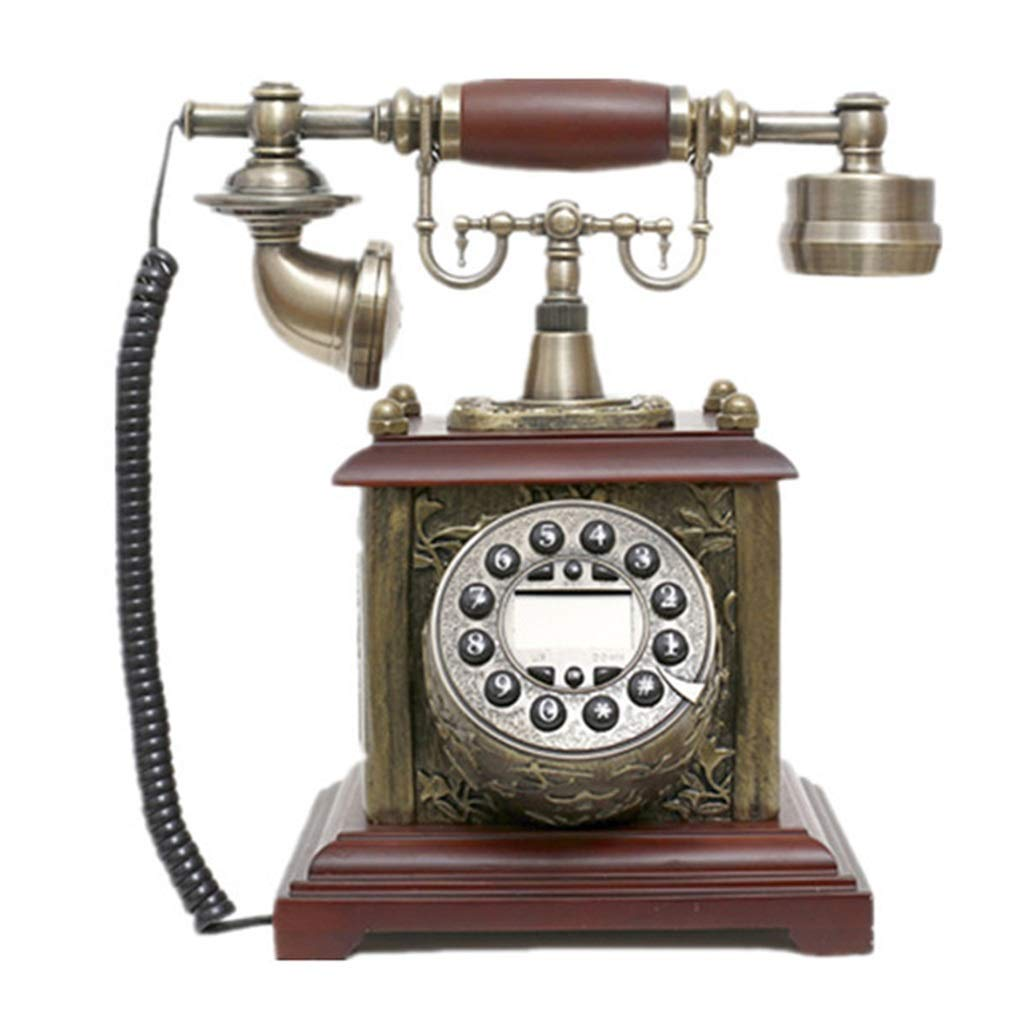 JGBHPNYX Vintage Retro Retro Phone Living Room Home Office European Antique Turntable Landline