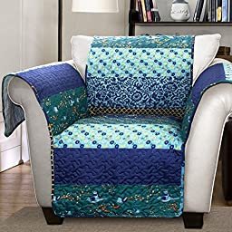 Lush Decor Royal Empire Slipcover/Furniture Protector for Armchair, Peacock