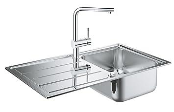 Favorit GROHE 500 | Küche - Set aus Spüle und Küchenarmatur Minta KV58