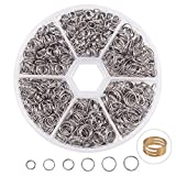7 mm split rings - PandaHall Elite About 1120 Pcs 304 Stainless Steel Split Rings Double Loop Jump Ring Diameter 5mm 6mm 7mm 8mm for Jewelry Making