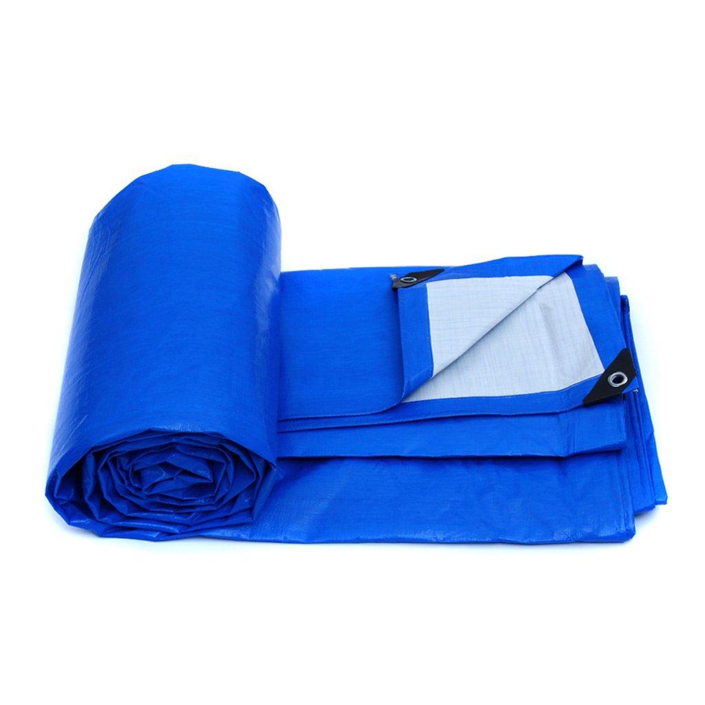 防水布サンシェードクロス屋外キャンバス厚手ターポリン B07FKPLVRQ  Blue 6*4m