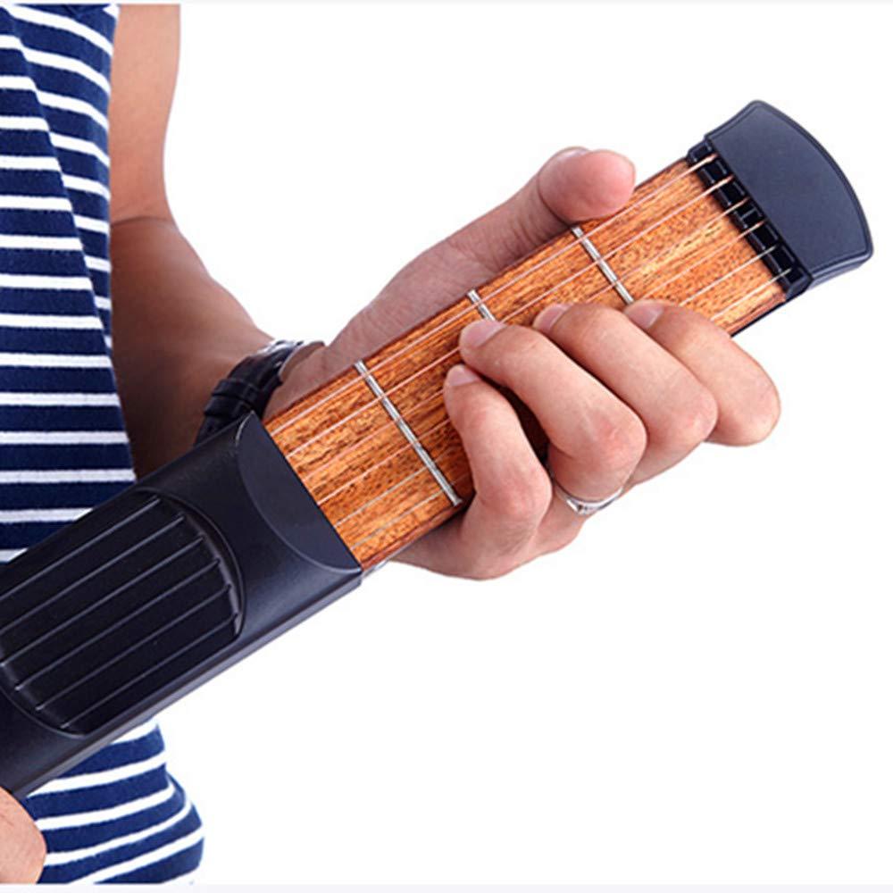 KENGEL Pocket Guitar Practice Neck, Finger Exercise, 4, 6 Fret Portable Guitar Trainer Practice Tool for Beginner Chord Trainer Fingering (4 fret) 4, 6 Fret Portable Guitar Trainer Practice Tool for Beginner Chord Trainer Fingering (4 fret)