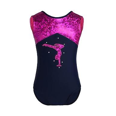 iiniim Enfant Fille Justaucorps de Sport Gym Yoga Pilates Ballet Danse  Classique Ballerine Collants Léotard Imprimé ae3c86c9c4a