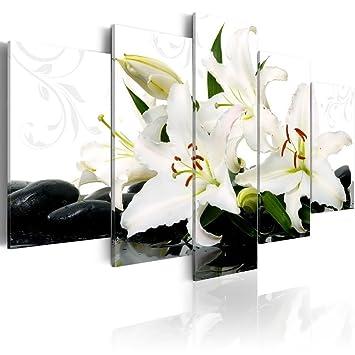 Amazon lily and zen stone wall art black and white flower print lily and zen stone wall art black and white flower print on canvas decor painting mightylinksfo