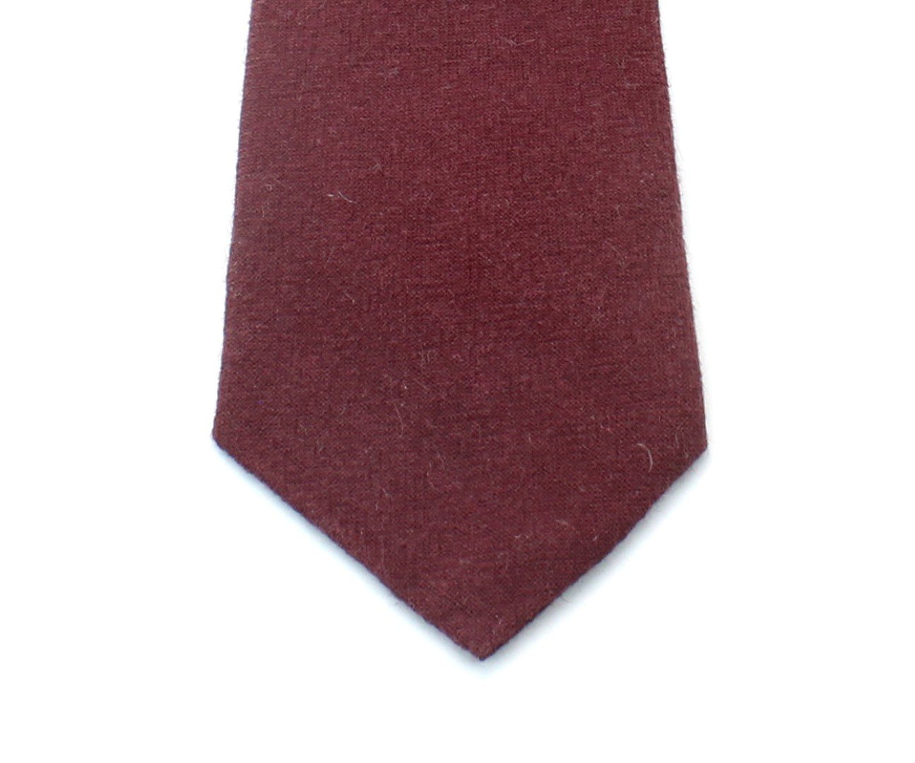 Kids Linen Formal Necktie Tie Modern Distressed Finish Solid Colors - Burgundy by Proper Materials (Image #2)