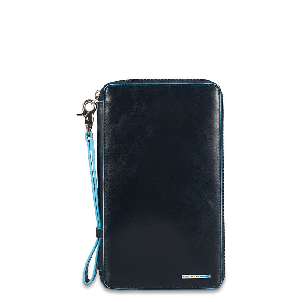 Piquadro Travel Document Holder with Credit Card Slots Pen Loop, Dark Blue, One Size by Piquadro