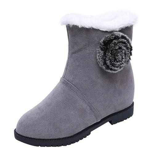 Beladla Botas Mujer Invierno Mujeres OtoñO Invierno Botines Zapatos Calientes Moda Botas Antideslizante CáLidas Botines Boots De Nieve Casual: Amazon.es: ...
