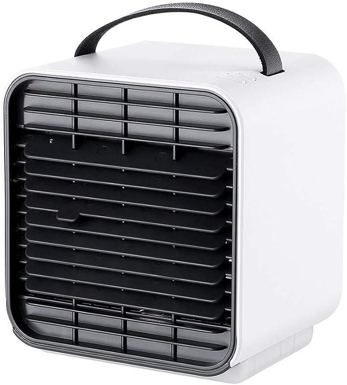 Aire Acondicionado Portátil Enfriador,Climatizador Evaporativo, Aire Acondicionado, 3-en-1 Mini Enfriador Humidificador Purificador de Aire Aire Acondicionado para Casa/Oficina/Camper/Garaje (Blanco): Amazon.es: Hogar