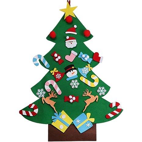 Regali Di Natale In Feltro Fai Da Te.Xonor Albero Di Natale In Feltro Fai Da Te Con Ornamenti Per Bambini