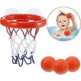 cheap4uk Bath Toys, Mini Basketball Bathtub Shooting Game Toys Set Basketball Hoop with 3 Balls for Baby Kids Toddlers