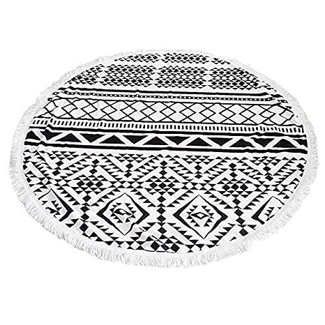 Verano playa toallas – SODIAL (R) verano impreso de microfibra grande redondo toallas de