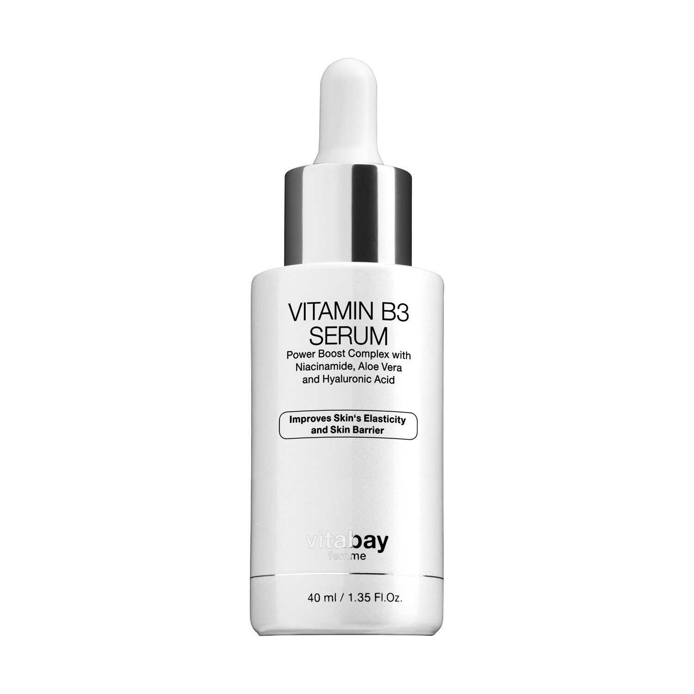niacin poliamida 5% Vitamin B3 cara Serum 40 ml - anti-edad Crema Hidratante con Vitamina B3 - Reduce acné, alpinismo, arrugas, líneas finas, manchas ...