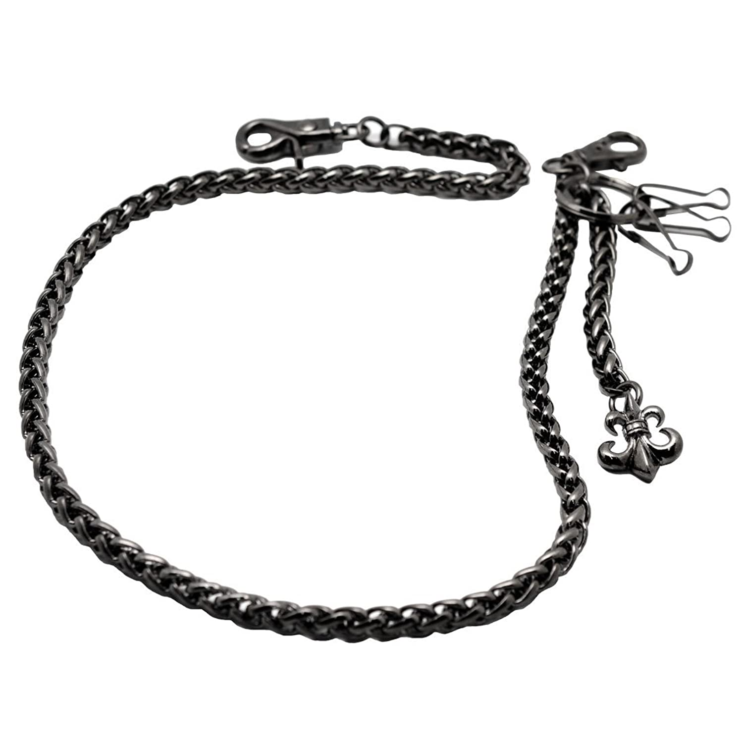 Accessories Uniqsum Simple Rope shape Double wallet chain Biker Punk Jean Key chain Gun-Metal Men