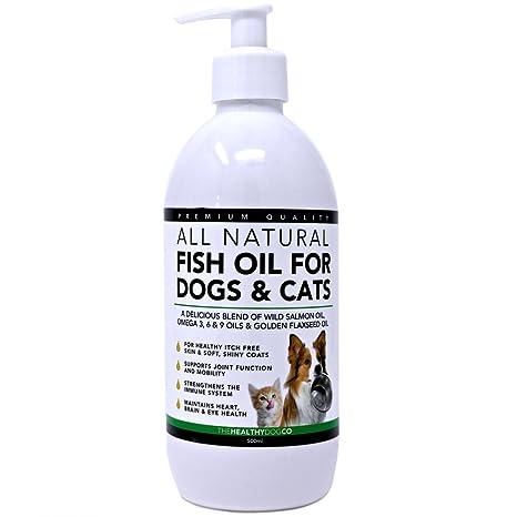 Aceite de pescado para perros y gatos | 500ml | Aceite de salmón escocés salvaje 100