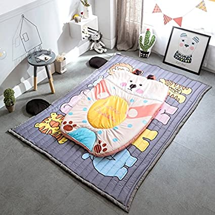 Fenfen Foldable Childrens Floor Mat/Cotton Non-Slip Mattress/Baby Crawling Mat/