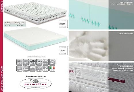 Materassi Permaflex Memory Foam Prezzi.Permaflex Evidence 160 Materasso Memory Foam Touch 160x190