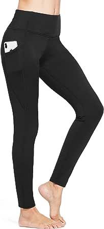 BALEAF Womens 23//25//27 High Waist Leggings with Zipper Pocket Fleece Thermal Winter Legging Tummy Control Trail Tights