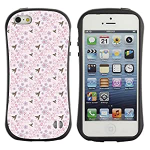 ArtSpace Premium Hybrid Back Case Cover Apple iPhone 5 / 5S ( Birds And Flowers )