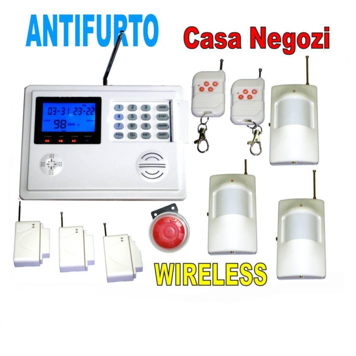 CS Elettroingros - Sistema de alarma GSM inalámbrica (línea telefónica, 6 sensores, 2 mandos a distancia): Amazon.es: Bricolaje y herramientas