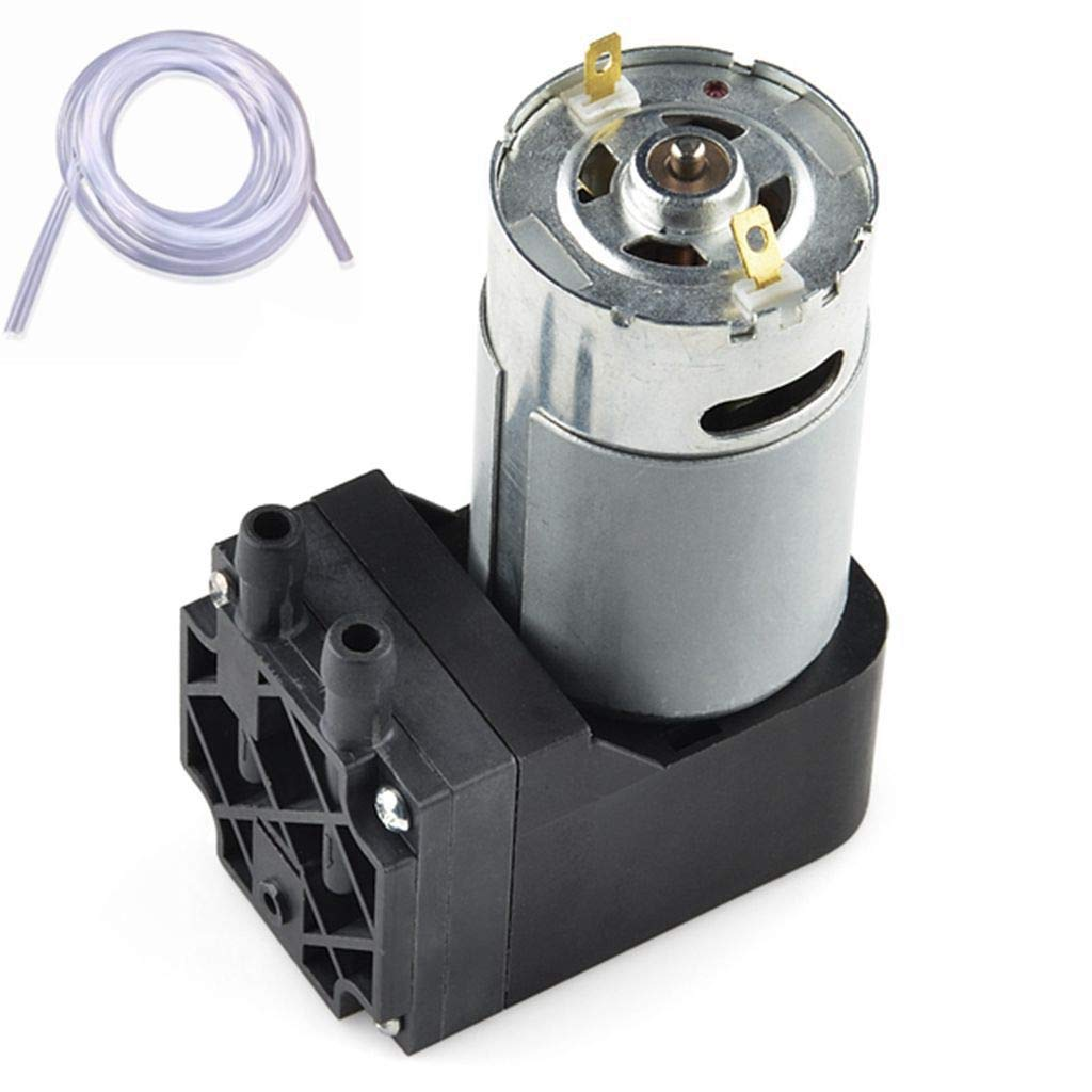 Vacuum Pump 12V Mini Diaphragm Air Compressor with Silicone Tube by Uniquers