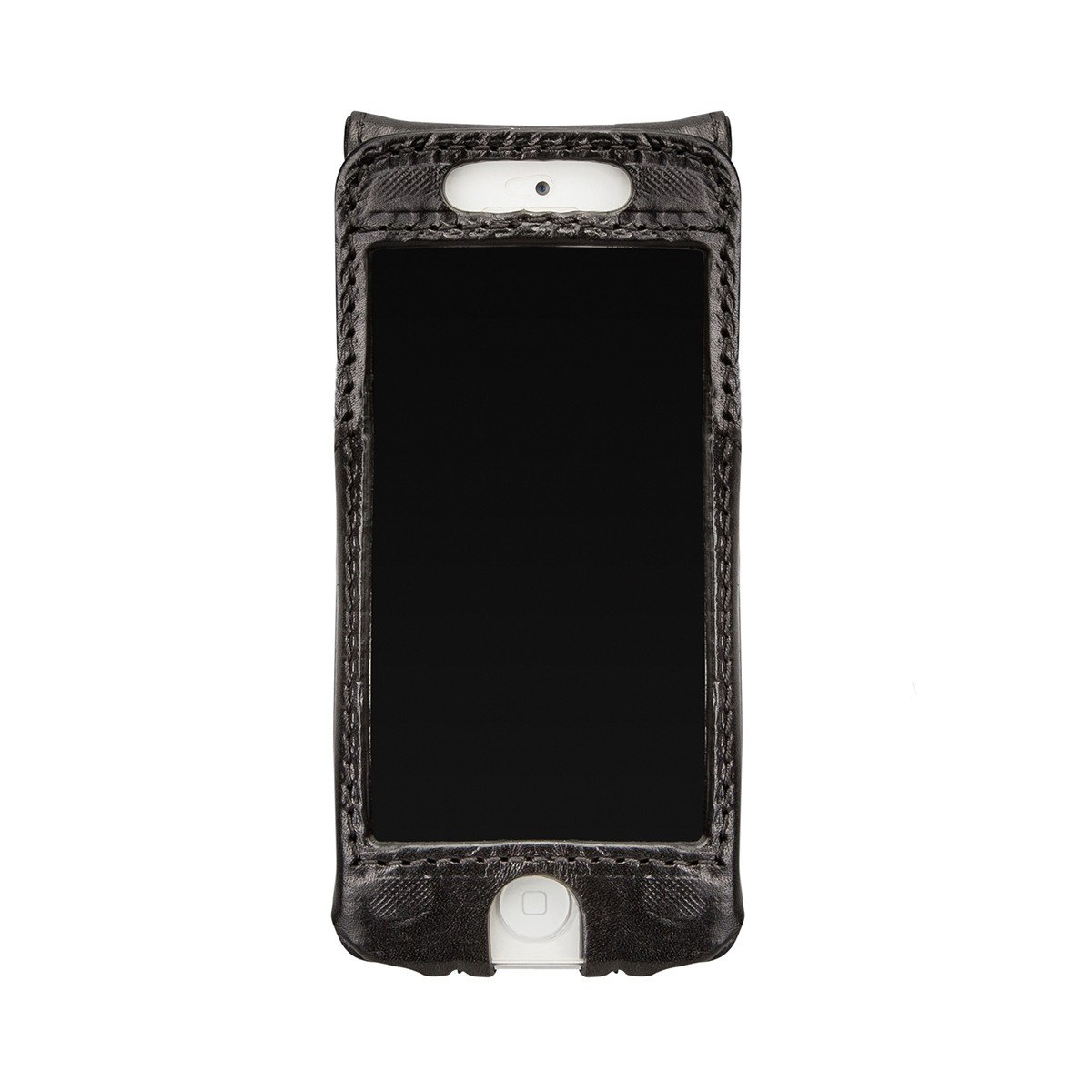 Maxwell Scott Personalized Iphone 5/5s Black Leather Flip Case for Cell (Renato) by Maxwell Scott Bags (Image #4)