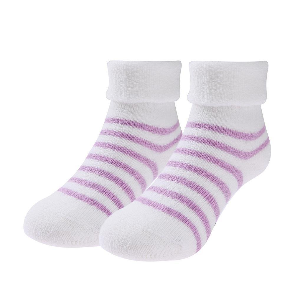 amazingdeal Winter Warm Thicken Cotton Newborn Baby Girls Boys Stripe Side Terry Socks
