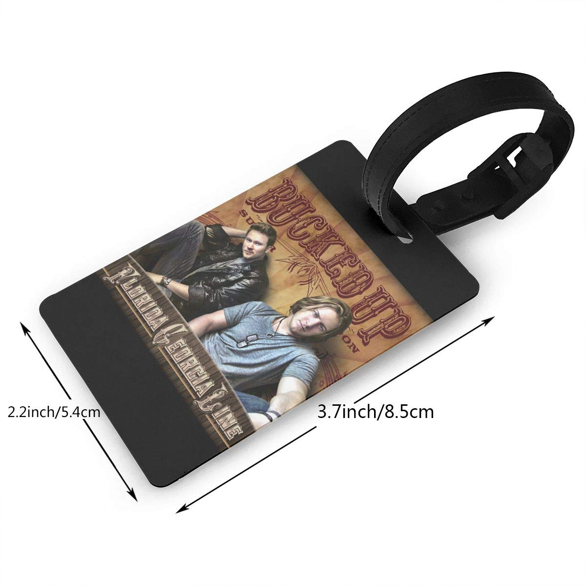 Hushuxiapp Florida Georgia Line Complete Printed Design PVC Luggage Tag Travel Suitcase ID Labels Accessories Leather Wristband