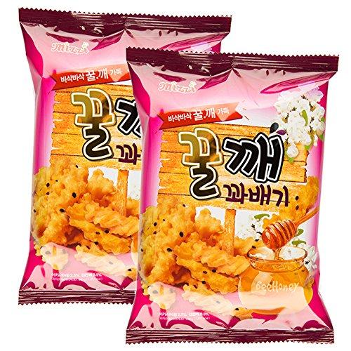 [ Family Size - 2 Packs ] (480g) Korean Honey Twist Crispy Snack Sweet Chip