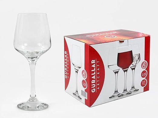 En caja LAL copas de vino cristal tradicionales caja de 6, en caja ...