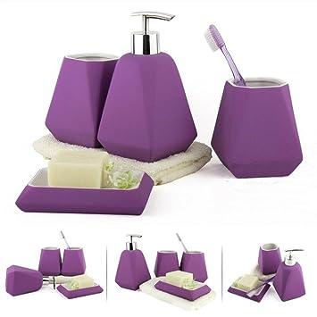PLYY Céramique Set d\'accessoires Couleur Simple Salle de ...