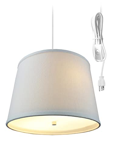 2 light plug in pendant light by home concept hanging swag lamp rh amazon com Two-Way Wiring 2 Lights how to wire a two light floor lamp
