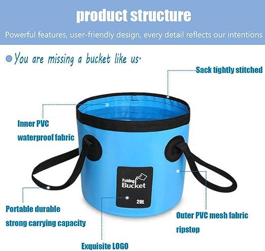 12L Robusto YAVO-EU Cubo Plegable Cubeta Plegable Agua port/átil Ahorra Espacio para Vacaciones Pesca y Camping Jard/ín Ligera Exterior