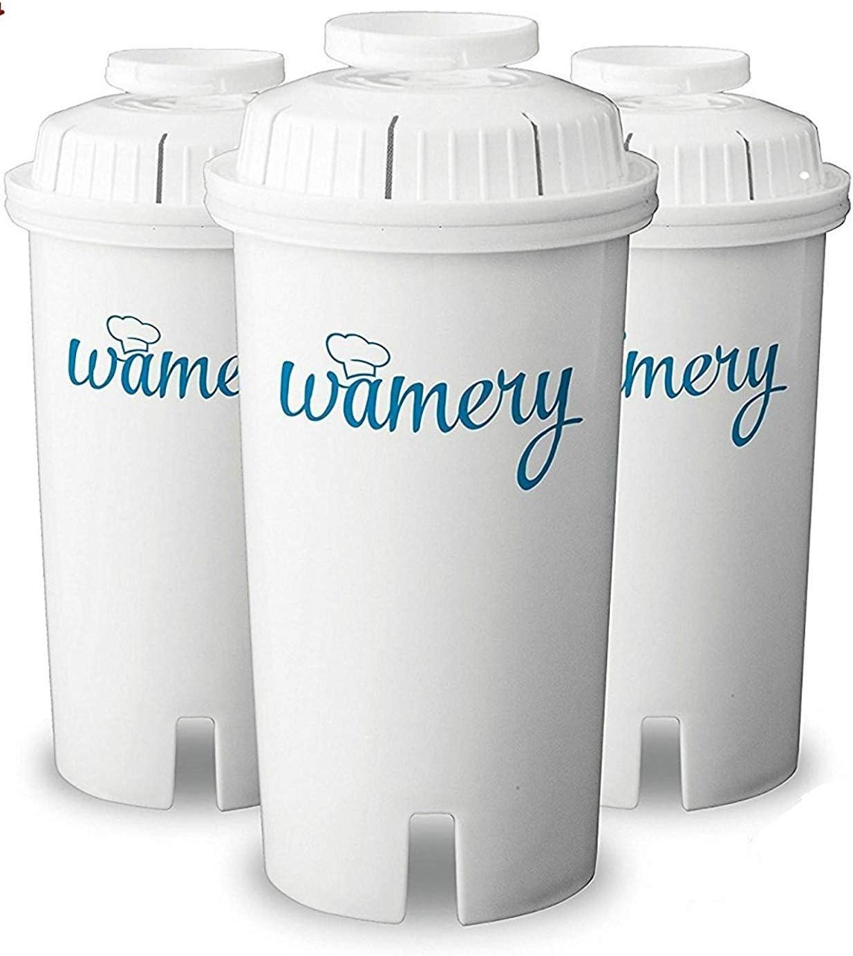 Wamery Filtros para Jarra Filtradora de Agua, 3-Pack Compatible ...