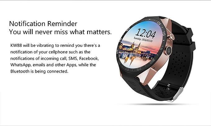 Amazon.com: KW88 Smart Watch Android 5.1 GPS 3G WIFI ...