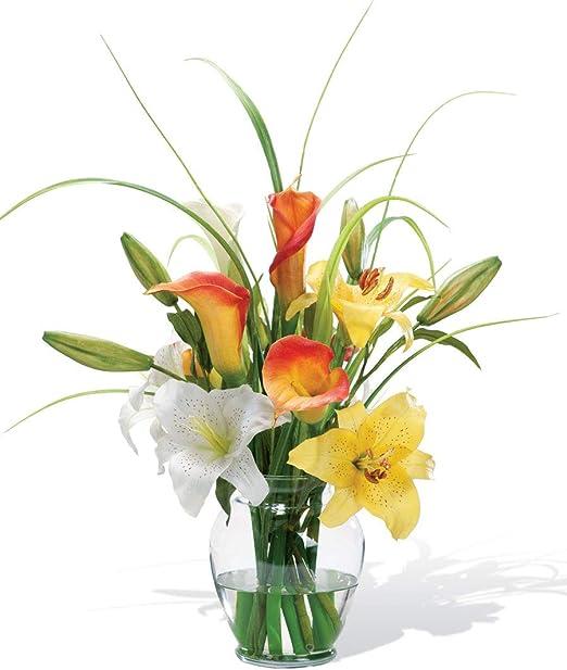 "13/"" Calla Lily Silk Flower Arrangement Centerpiece Home Floral Decor"