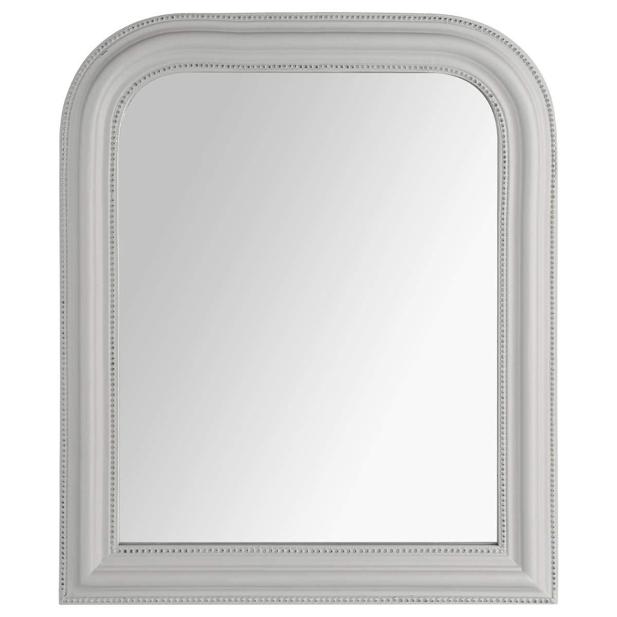 Atmosphera Miroir Cadre en Bois Gris Adele 50X60 cm