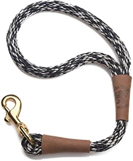 product image for Mendota Pet Traffic Leash - Short Dog Lead - Made in The USA - Salt & Pepper, 1/2 in x 16 in