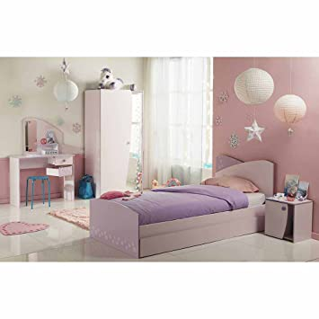 Kinderzimmermöbel für Mädchen Rosa Eiskristall Design (4-teilig ...