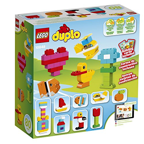 61JhRTjbD7L - LEGO Duplo My First Bricks 10848 Colorful Toys Building Kit for Toddler Play and Pretend Play (80 Pieces)