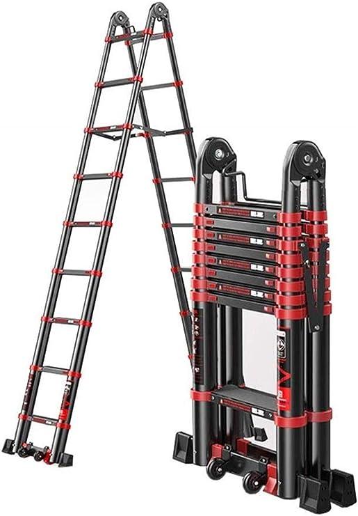 BAOFI Escalera telescópica Multiusos Plegable de Aluminio con ...
