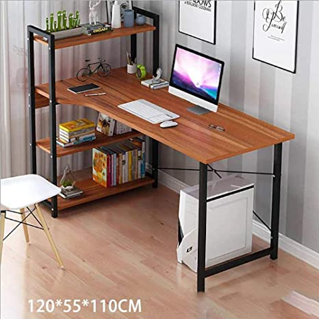 Computer Desk Table Laptop Display 4 Tier Bookshelf Study Writing Home Office