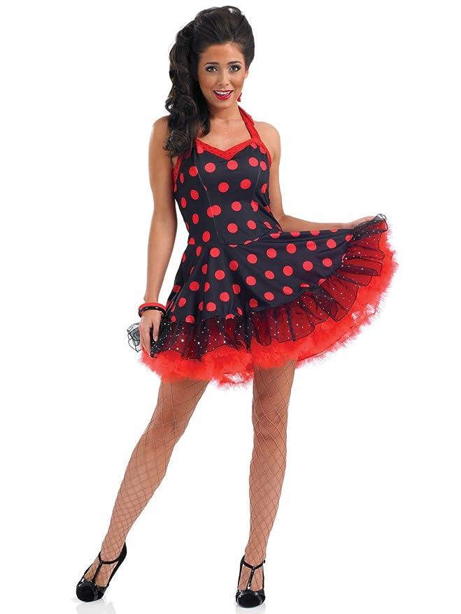 ROCK - Disfraz de sevillana para mujer, talla S (UK 8-10) (FS2793 ...