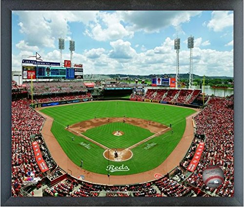 "Great American Ballpark Cincinnati Reds MLB Photo (Size: 17"" x 21"") Framed"
