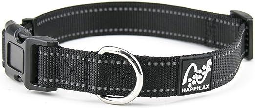 Happilax Collar Perro pequeño y Cachorro en Nylon Ajustable y ...